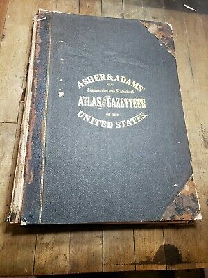 Asher & Adams Commercial And Statistical Atlas Of The United States Vol1, 2 1872