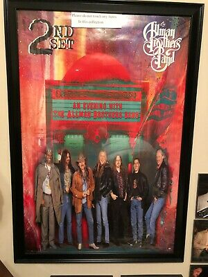 allman brothers poster framed this poster is perfect big and colorful