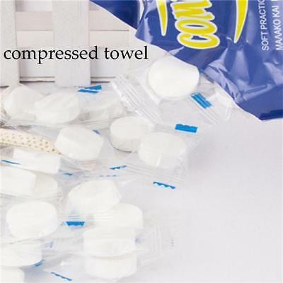 20PCS Compressed Dried Tissue Disposable Baby Wipe Magic Coin Towel Dry Wet LE
