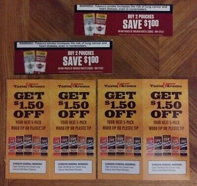 BLACK & MILD And Swisher Sweets Original Unused Manufacturer Coupons Worth  $13