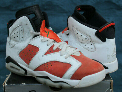 check out dfced 0a754 NIKE AIR JORDAN 6 Retro Gatorade Basketball Shoes White/Orange Youth Size  6.5Y