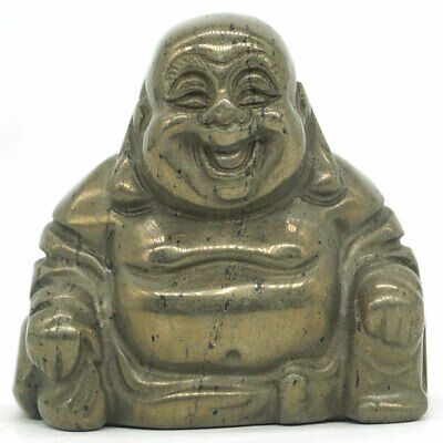 "Laughing Buddha Statue1.4/"" Natural Gemstone Amethyst Carved Maitreya Figurine"