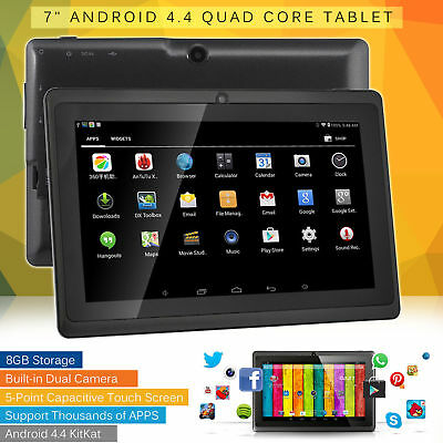 7 Inch Android Quad Core 4.4 Dual Camera Tablet HD 8GB Bluetooth Wifi Tablet UK