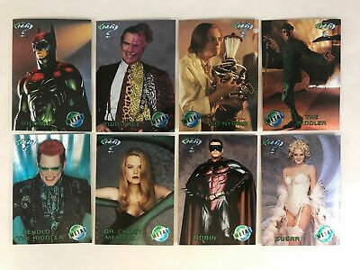 Batman Forever - Movie Preview Complete Chase Card Set (8) 1995 Fleer Metal - NM