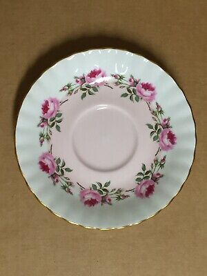 Antique Royal Albert Pink Flower Teacup / Kitchen Decor Plate - Made In England!