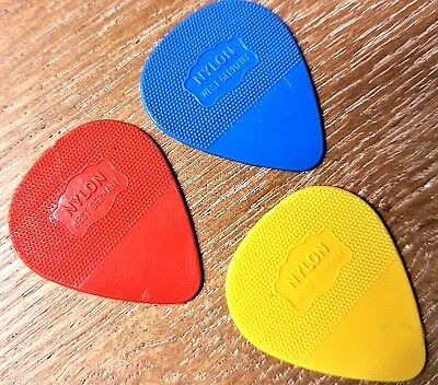 Herdim guitar picks  U2s Edge Favorite guitar Pick  Blue, Red,Yellow 3 picks