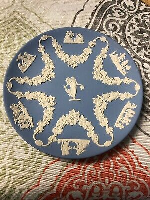 Vintage WEDGWOOD Blue Jasper Ware Collector's Society FLORAL GIRL TROPHY Plate