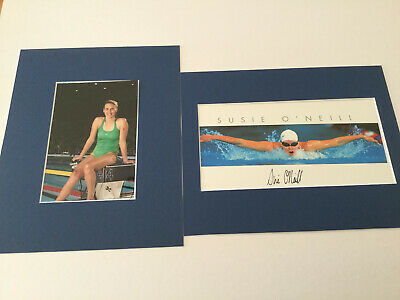 Susie O'Neill (Swimming Legend) Hand Signed + Matted Photo**TAKE A LOOK**