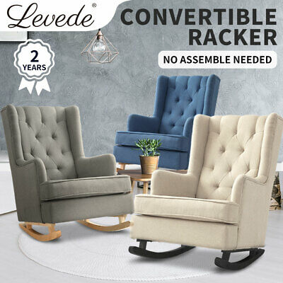 Levede Nursing Baby Feeding Sofa Chair Rocking Armchair Fabric Lounge Recliner