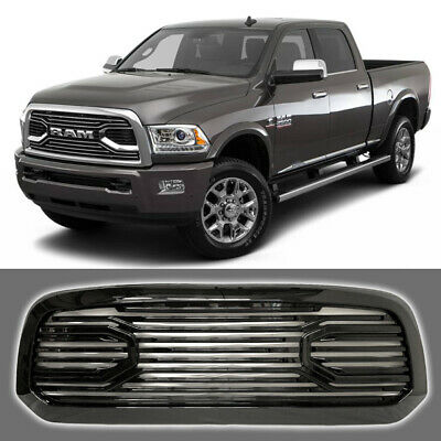 Fits For 2017 Dodge Ram 1500 Front Grill Horn Style Grille Gloss Black