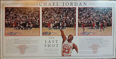 "Michael Jordan ""The Last Shot"" L. Edition Collectors Print - Excellent Condition"