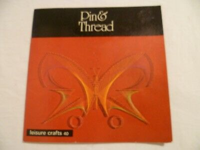 70's Vintage Pin & Thread Art Book Instructions Designs Leisure Crafts #40