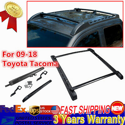 Roof Rack Cross Side Bars Luggage Top Carrier for 09-18 Toyota Tacoma Double Cab