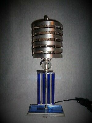 "Art Deco Machine Age Lamp c, 1935 ""Ol' Blue Eyes"" 2nd Edition"