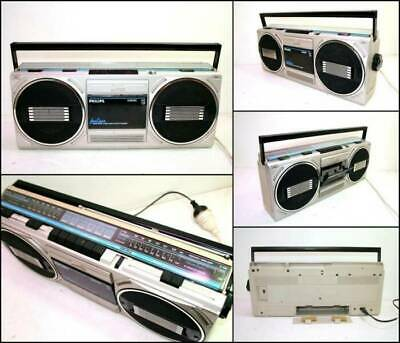 1980's PHILIPS D8040 2 Band Stereo Radio Cassette Boombox
