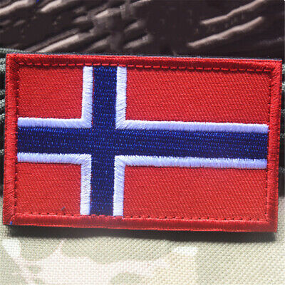 Norway National Flag Europe Emblem Sew on Patch Armband Embroidered Badge DIY