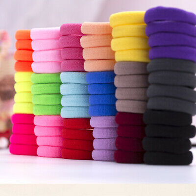 50Pcs Women Girls Hair Band Ties Rope Ring Hairband Cloth Holder Colorful