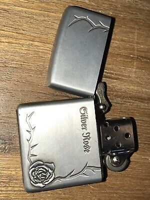 Silver Rose #1 Flip Top Lighter Kerosene / Zippo Fluid Oil Needed Men Woman Gift
