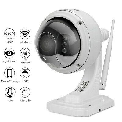 FLOUREON 960P Wifi 1.3MP Wireless CCTV Sécurité IR-CUT Dome PT IP Caméra IP66 FR