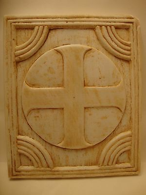 Byzantine Cross Rare Greek Orthodox Religious Sculpture Art  Carving Handmade