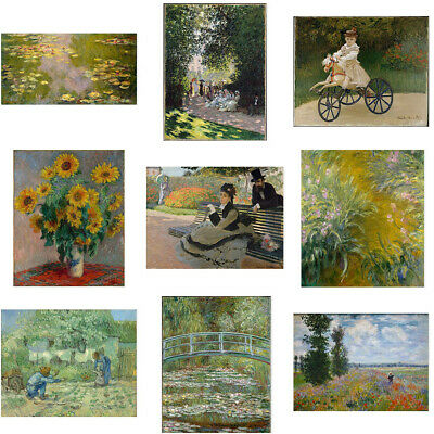 By Monet Medieval Canvas Painting Poster Living Room Bedroom Home Art Wall Decor