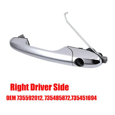 For Fiat 500 Offside Right Driver Side Chrome Outer Door Handle OEM 735592012