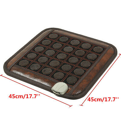 Electric Heating Mat Natural Jade Infrared Tourmaline Massage Pad Pain Relief