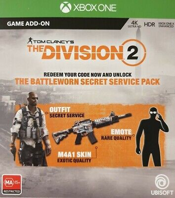 THE DIVISION 2 First Responder Pack DLC Xbox One Exclusive