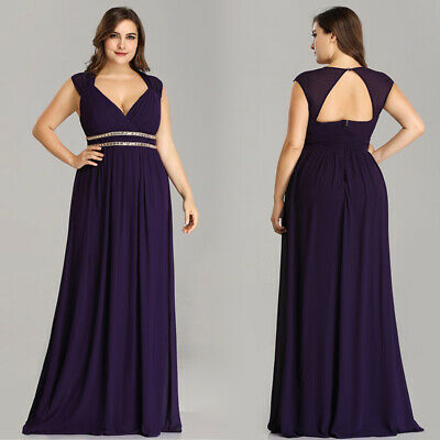 Ever-Pretty Lady Sleeveless Long V-Neck Summer Mother of Bride Maxi Dress 08697