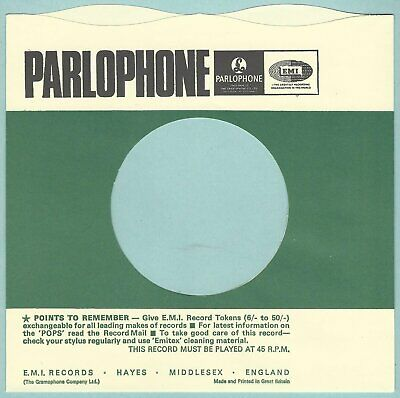 PARLOPHONE (wavy top) REPRODUCTION RECORD COMPANY SLEEVES - (pack of 10)