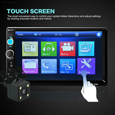"""9600 7"""" Touch Screen 2 DIN In-Dash Bluetooth Car Auto Video USB TF FM MP5 Player"""