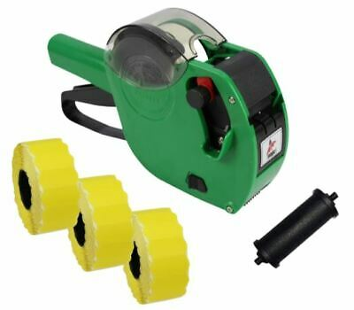 Panther PL-2612 6 Digit Pricing Gun with 4,500 Yellow Peel Labels + Spare Ink