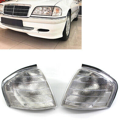 Pair Corner Side Light Turn Signal Lamp For Mercedes Benz C Class W202 1994-2000