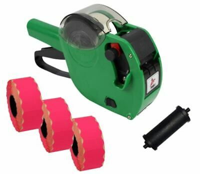 Panther PL-2612 6 Digit Pricing Gun with 4,500 Flo. Pink Permanent Labels + Ink