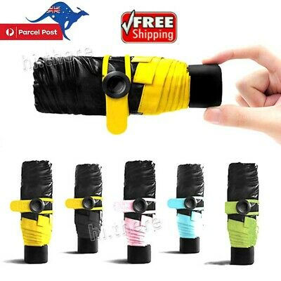 Mini Folding Compact Super Windproof Anti-UV Rain Sun Travel Umbrella Portable