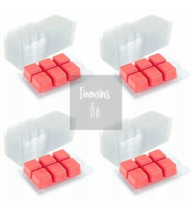 TIMMINS CANDLES - 50 Wax Melt Clamshell Moulds From Recycled Plastic 22mm Deep