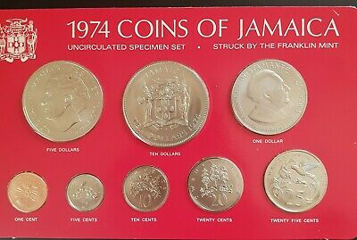 1974 Jamaica - Official Mint Bu Specimen Coin Set (8) - -Rare Beauty!