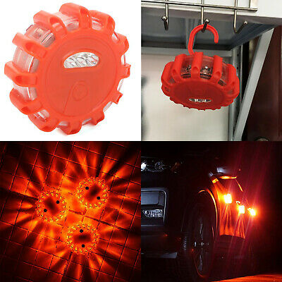 LED Road Flare Rescue Beacon Disc Flashing Warn Caution Light Safety Lamp RC749