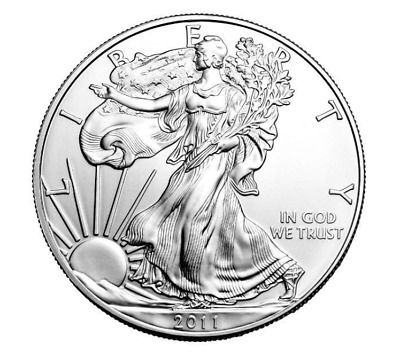 2011 american eagle silver bullion coin 1oz ounce uncirculated 1 $ extra capsule