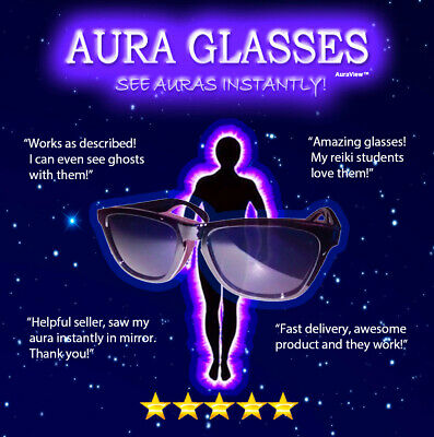 AURA GLASSES ghost hunting reiki chakras orgone crystal spiritual psychic occult
