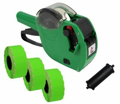 Panther PL-2612 Date Coding Gun with 4,500 Flo. Green Perm Labels + Spare Ink