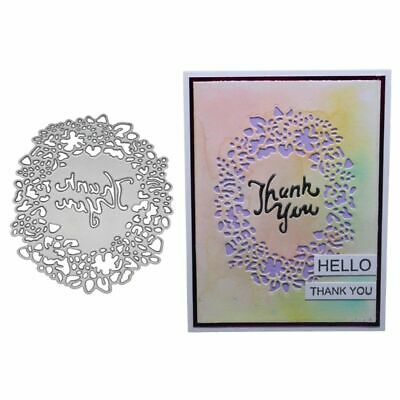 DIY Thank You Cutting Dies Stencil Scrapbooking Album Paper Card Embossing Craft