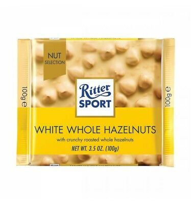 Ritter Sport White Whole Hazelnut 100g x 10