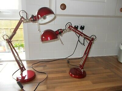 Vintage retro style anglepoise desk/bedside lamps - pair - North Norfolk