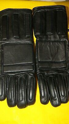 Genuine Leather Heavy Duty Reinforced Riot Gloves Gauntlets Police Military Xxl