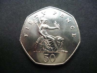 1983 Uncirculated Fifty Pence Piece. 1983 50P Coin In Uncirculated Condition.