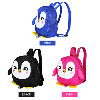 Cartoon Penguin Baby Safety Harness Backpack Toddler Anti-lost Bags Schoolbag