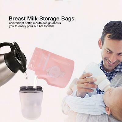 30/60 PcsBag Cmbear Breast Milk Storage Baby Food 250ml Freezer Container Bags