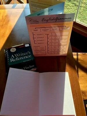 WRITING, BLANK BOOK for story, writers reference book, english grammar  flipchart