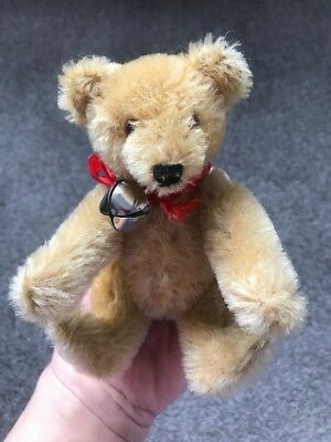 """Vintage 6"""" STEIFF MOHAIR JOINTED TEDDY BEAR TOY ANIMAL 1950s W/ID Golden Brown"""